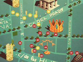 El mapa Jonnie Walker del Barrio de las Letras
